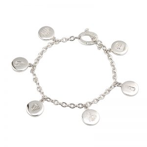 History of Ireland Charm Bracelet Sterling Silver s5558