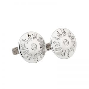 '1' Sterling Silver History of Ireland Cufflinks s6502