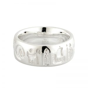 'History of Ireland Sterling Silver Ring