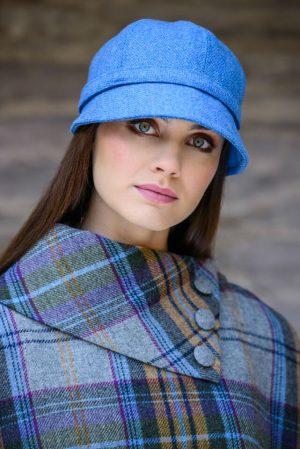 Ladies Blue Flapper Hat