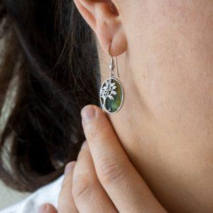 Connemara Marble Tree of Life Dangle Drop Earrings S33769