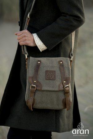 Irish Tweed Leather Buckle Bag