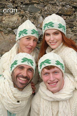 Merino Wool Shamrock Hat Beanie a754 283