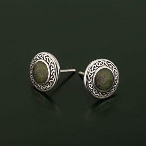 Connemara Marble Round Stud Earrings S33773