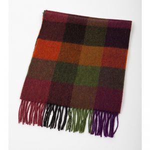 John Hanly Lambswool Multi Color Scarf