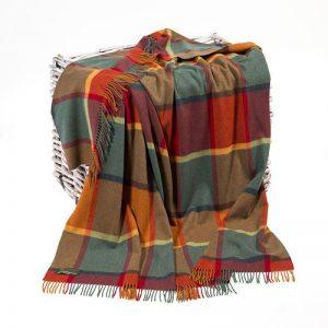 Lambswool Irish Orange Blanket John Hanly 639