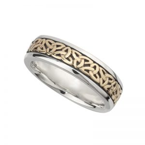 Solvar Ladies Silver & Gold Trinity Knot Ring