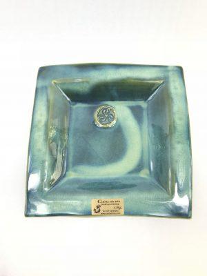Colm De Ris Medium Green Square Plate