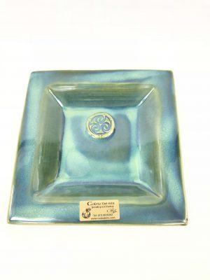 Colm De Ris Small Green Square Plate
