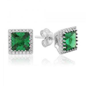Waterford Jewellery Emerald Stud Earrings