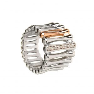 House Of Lor Silver Contemporary Dress Ring