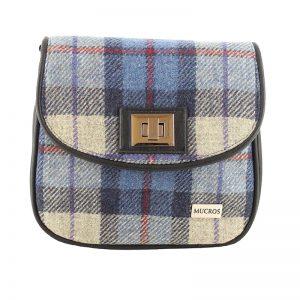Sarah Mucros Blue Check Shoulder Bag
