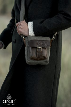 Irish Tweed Leather Shoulder Bag