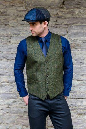 Mucros Green Tweed Waistcoat
