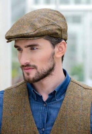 Brown Tweed Trinity Cap - Mucros Ireland
