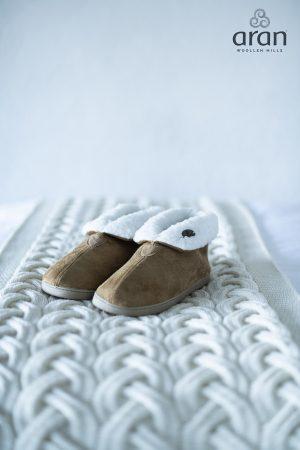 Aran Woollen Mills Suede Boot Slippers