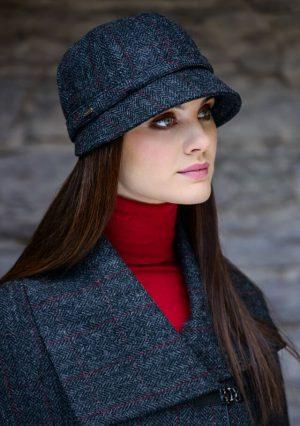 Mucros Grey Charcoal Flapper Hat