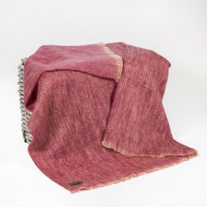 John Hanly Large Pink Mohair Throw