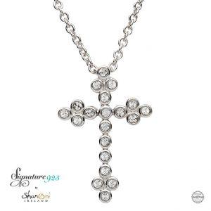 Celtic Cross With Swarovski Crystal sw95
