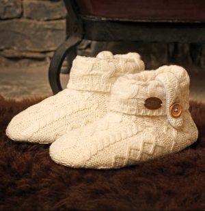 Kids Aran Wool Slippers