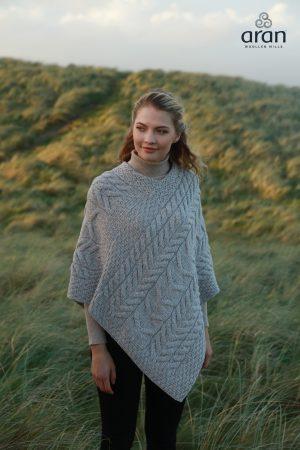 Aran Super Soft Merino Wool Poncho