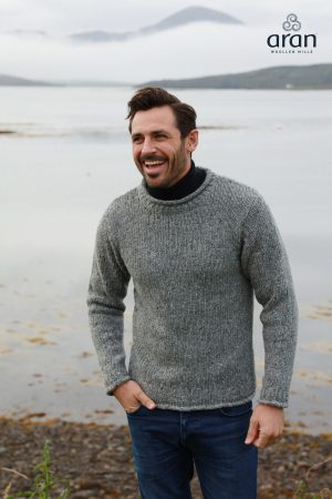 Gray Irish Fisherman Sweater