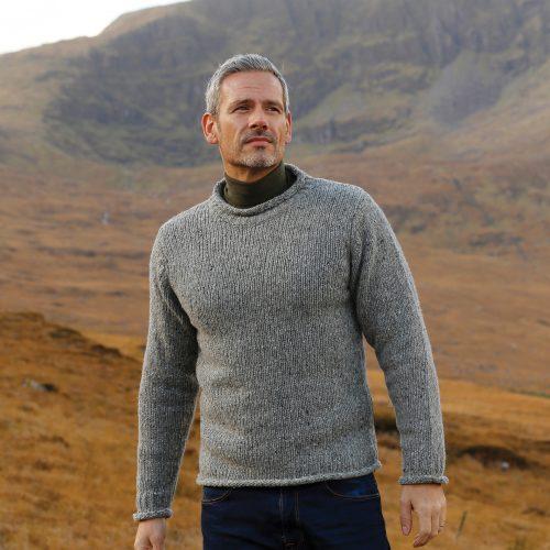 Gray Irish Fisherman Sweater