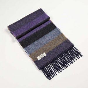 John Hanly Purple Stripe Scarf