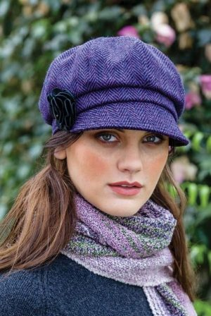 Ladies Purple Mucros Newsboy Cap 213