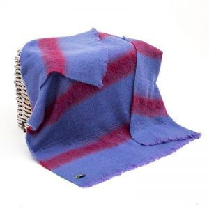 John Hanly Purple Mohair Blanket