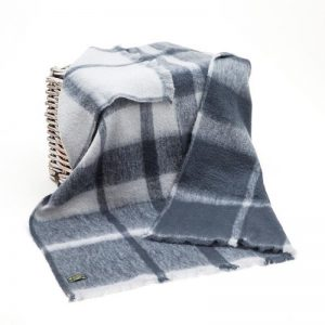John Hanly Gray Mohair Blanket