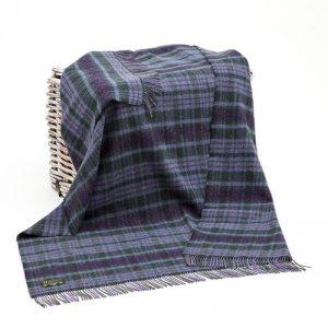 John Hanly Purple Green Blanket
