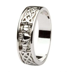 Gents Claddagh Celtic Wedding Ring