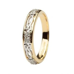 Ladies Celtic Diamond Wedding Band