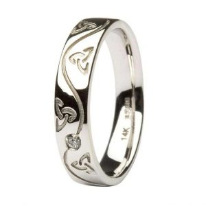 Ladies Celtic Diamond Wedding Ring