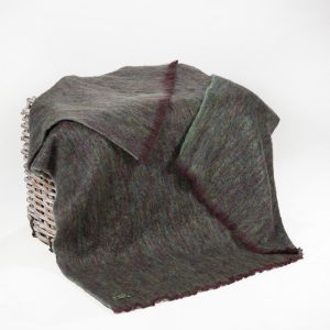 John Hanly Green Purple Mohair Blanket