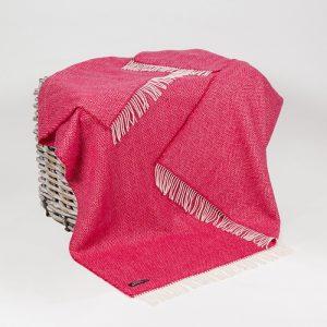 John Hanly Red Cashmere Blanket 1406