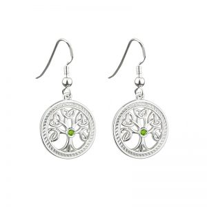 Solvar Silver Tree of Life Earrings s33230