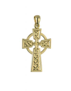 Solvar 9k Celtic Cross Charm s8304