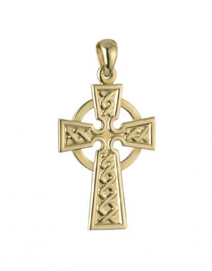 Solvar 9k Celtic Cross Charm s8310