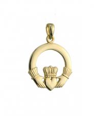 Solvar 14k Gold Claddagh Charm S8410