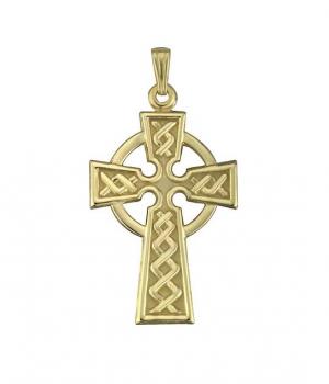 Solvar 10k Gold Celtic Cross Charm