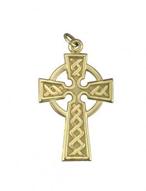 Solvar 14k Celtic Cross 15mm Charm