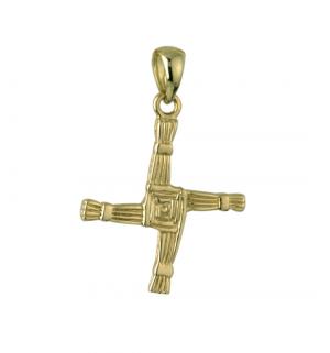 Large 14k Gold St Brigid's Cross Charm