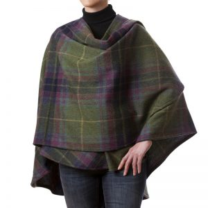 John Hanly Lambswool Green Sue Cape 613