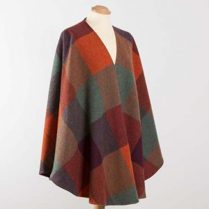 John Hanly Orange Lambswool Sue Cape