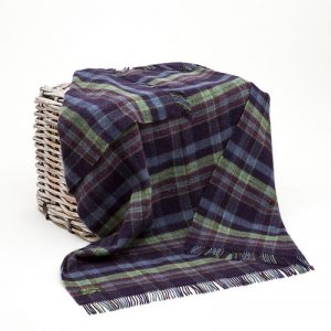 John Hanly Large Purple Blanket lw104