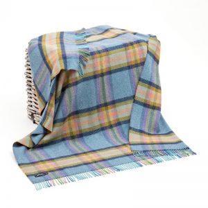 John Hanly Cashmere Multi Color Blanket