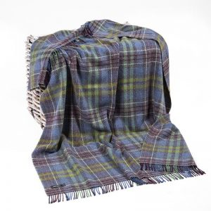 John Hanly Check Cashmere Blanket
