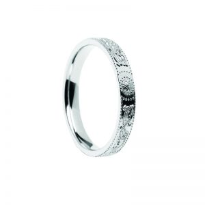 Ladies Celtic Warrior Ring 14k White Gold